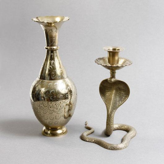 Brass Cobra Candlestick