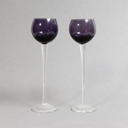 Purple Bowl Aperitif Glasses or Tea Light Holders