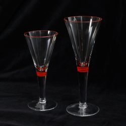 Red Stripe Cocktail Glasses
