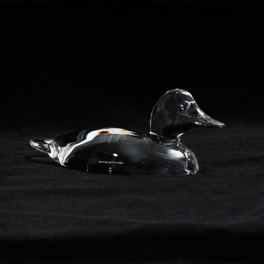 Villeroy and Boch Glass Duck Paperweight