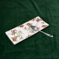 Vintage Floral Tea Spoon Rest 1940