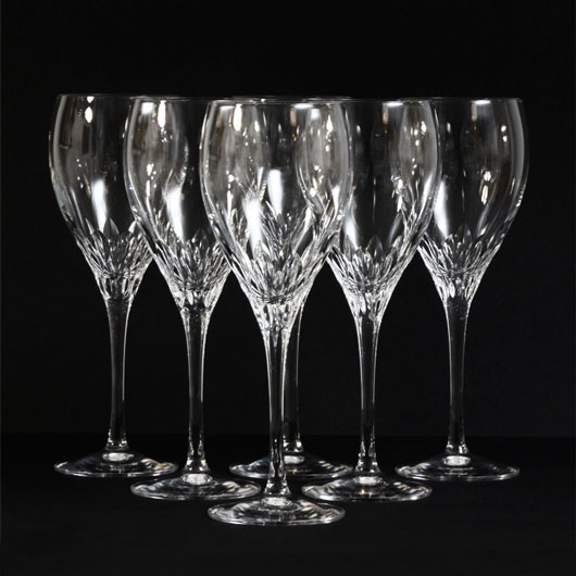 sparkling clear cut cristal jg durand capella french wine glasses kode. Black Bedroom Furniture Sets. Home Design Ideas