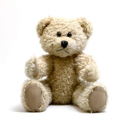 An unwanted vintage teddy bear.