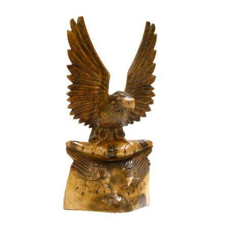 Ukrainian carved wood eagle 2