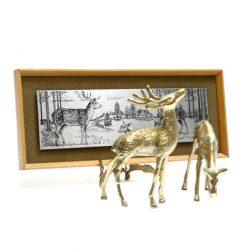 omicways steel etching with brass deer
