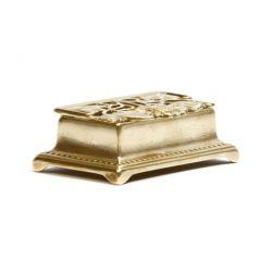 art nouveau brass trinket box