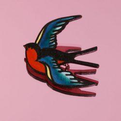 tatty devine swallow brooch
