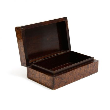 vintage veneered box open