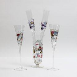 cristiro mosaic crystal vase