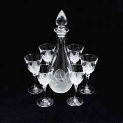 j g durand florence glasses and decanter