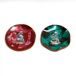 mexican foil art glazed dishes wall plaques