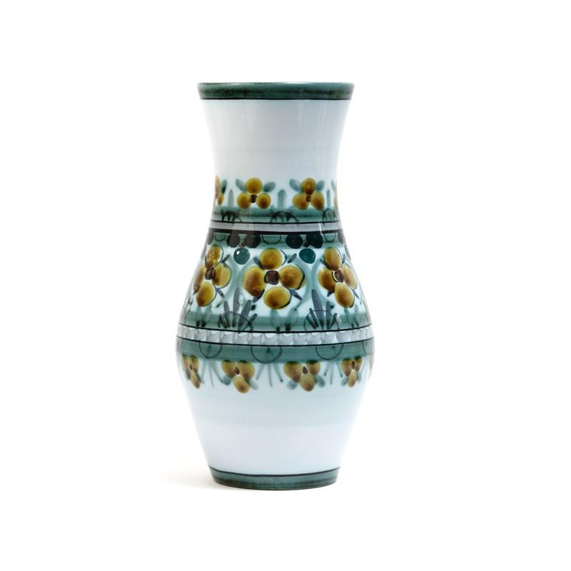 Flowery Art Pottery Vase Flora Gouda Holland Cisca Kode Store