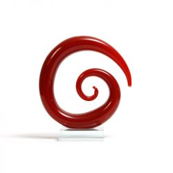 spiral art glass sculpture