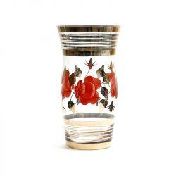 retro glass handpainted vase