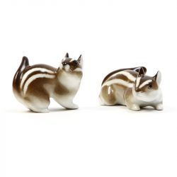 two ussr ceramic chipmunks