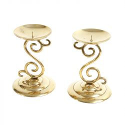 ornate brass candle pillars 2