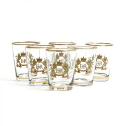 queens coronation shot glasses
