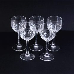 cut glass wine glasses 2
