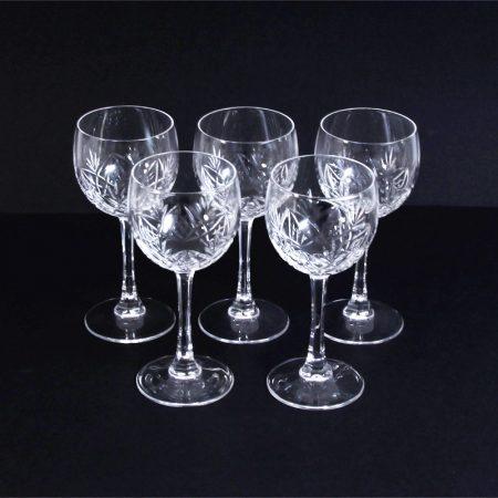 cut glass wine glasses 2