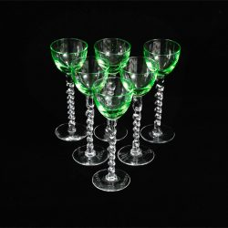 twisted stem aperitif glasses