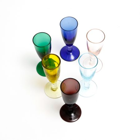 vintage colourful shot glasses aperitif glasses