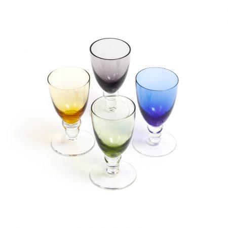 multi coloured shot glasses