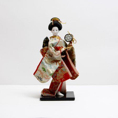 japanese geisha doll in kimono
