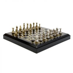 gold silver metal piece travel chess