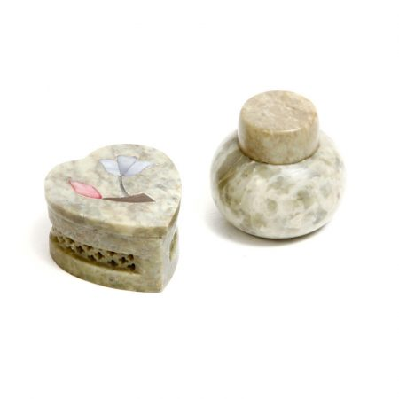 marble trinket box and pot