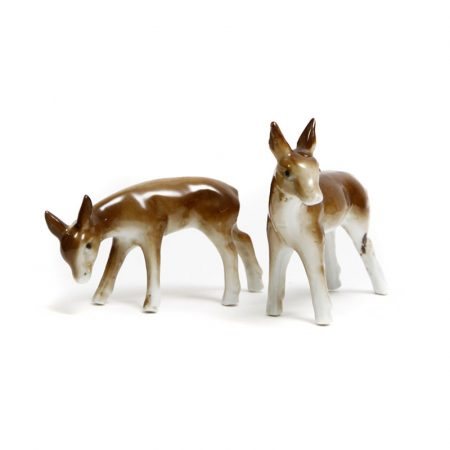 porcelain fawns