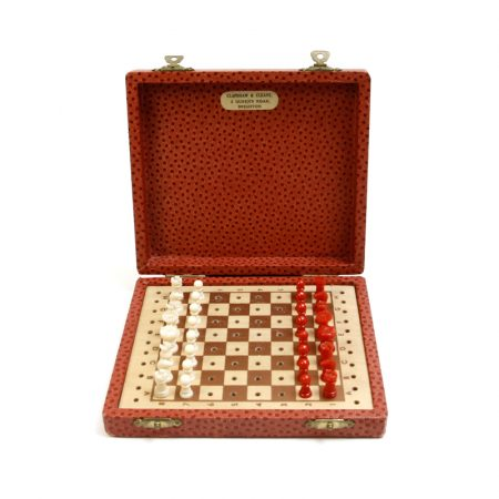 Clapshaw and Cleaves vintage travel chess
