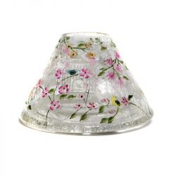 bird decorated yankee candle jar lamp