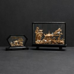 pair of chinese cork sculptures 2