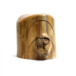 a tree stump trinket box