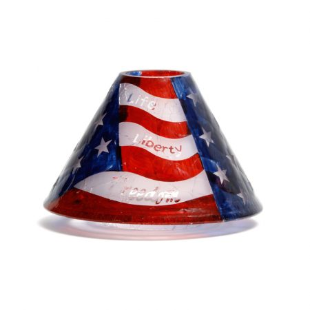 us flag decorated yankee candle jar lamp