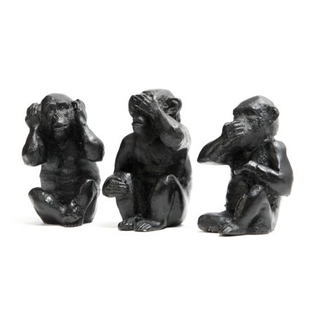 vintage resin three wise monkeys