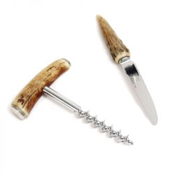 antler foil cutter and corkscrew