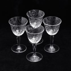 pressed pattern vintage liquor glasses