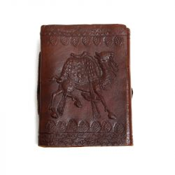 camel embossed leather notebook