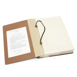 loxon loose-leaf binder with laces
