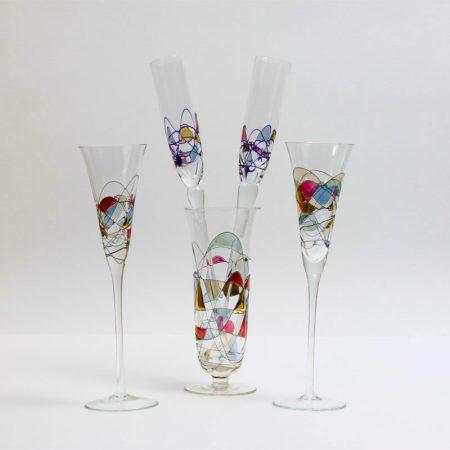 cristiro milano mosaic crystal flute
