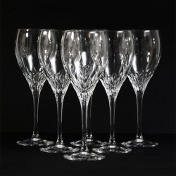 six Cut Crystal JG Durand Capella wine glasses