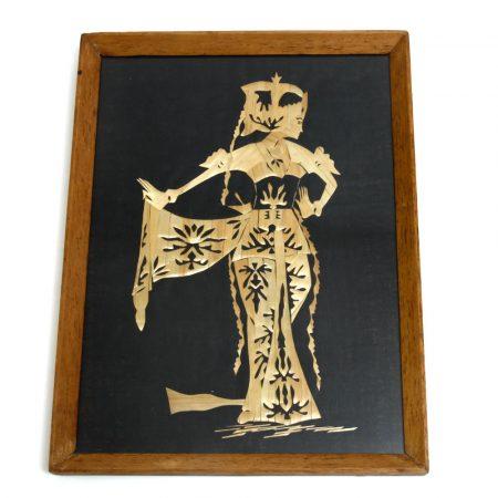 thai dancer straw art picture