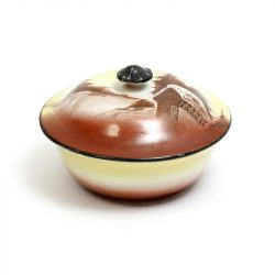 lidded soup dish with mushroom handle