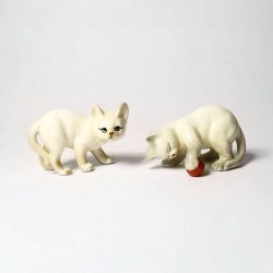 danbury mint cats playing with ball