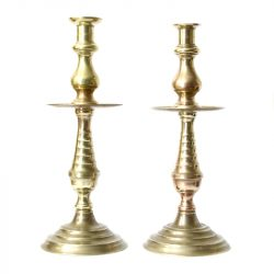 beehive pattern column brass candlesticks