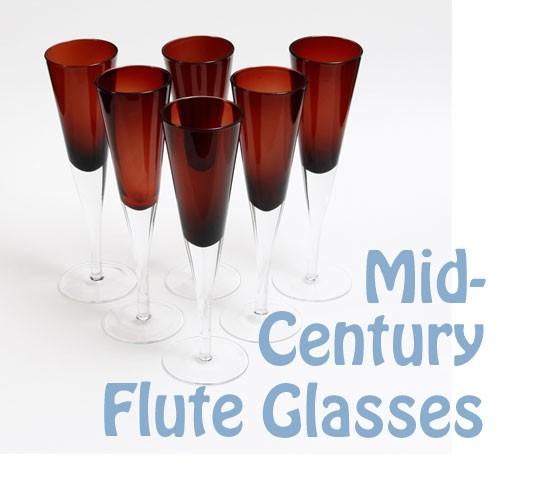 mid-century champagne flutes