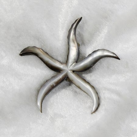starfish brooch made from shell