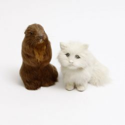 cute rabbit fur squirrel and cat ornament