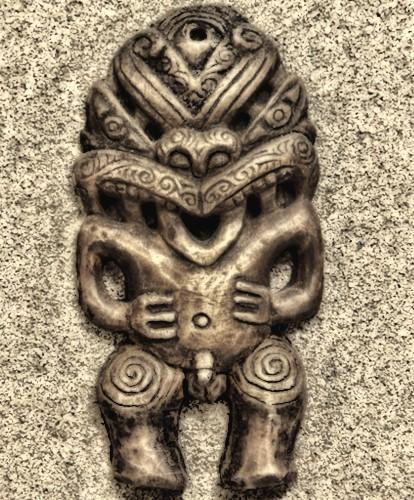 A Maori Tiki God